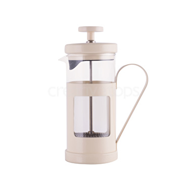 "Cafetera émbolo 3 tazas Mónaco crema ""La Cafetière"""