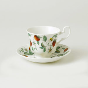 Tea cup and saucer Roy Kirkham alpine strawberry