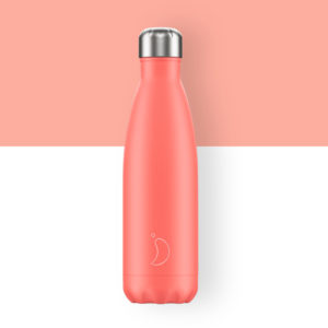 botella termo chillys coral pastel