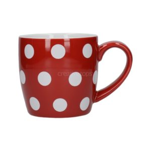 Taza roja con lunares london pottery