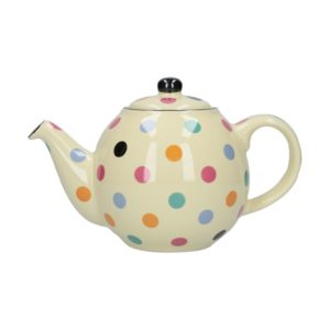 Tetera London Pottery lunares multicolor