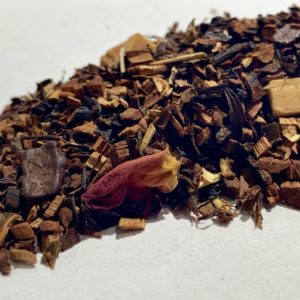 té honeybush pastel de chocolate