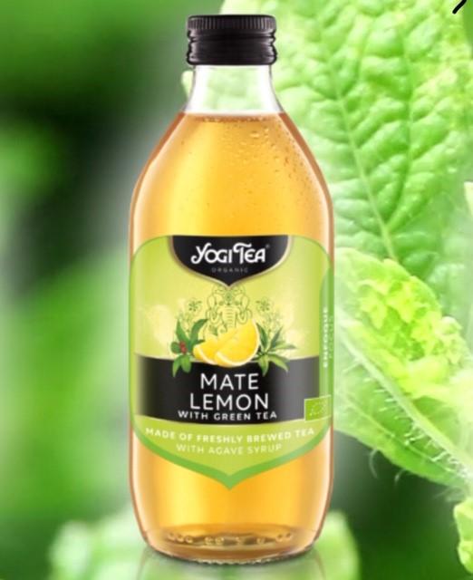 "Infusión fria de té verde, mate y limón ""YogiTea"""