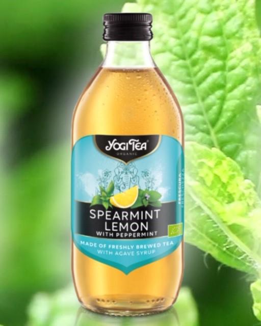 """Infusión fria de menta y limón """"YogiTea"""""""