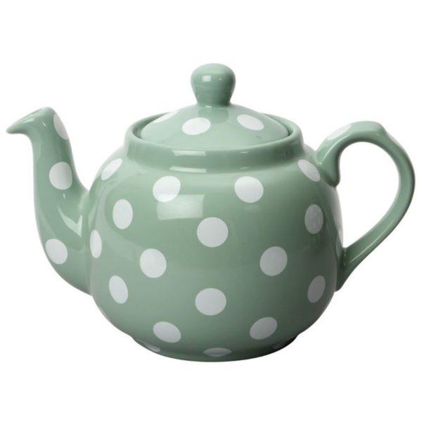 "Tetera Farmhouse 4 tazas verde/blanco ""London Pottery"""