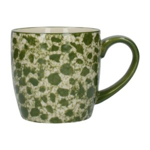 Taza porcelana inglesa london pottery verde