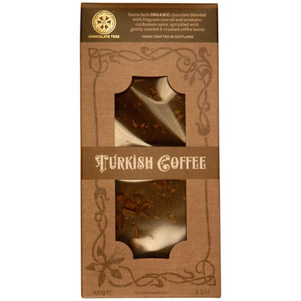 """Tableta chocolate negro café turco """"Chocolate Tree"""""""