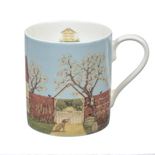 "Taza Potting Shed by Sally Swannell Mug ""Wrendale"""