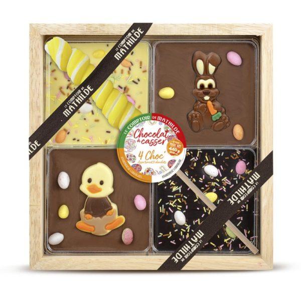 """4 Chocolates de Pascua (Incluye Piruleta Twister) 440gr. """"Le Comptoir de Mathilde"""""""