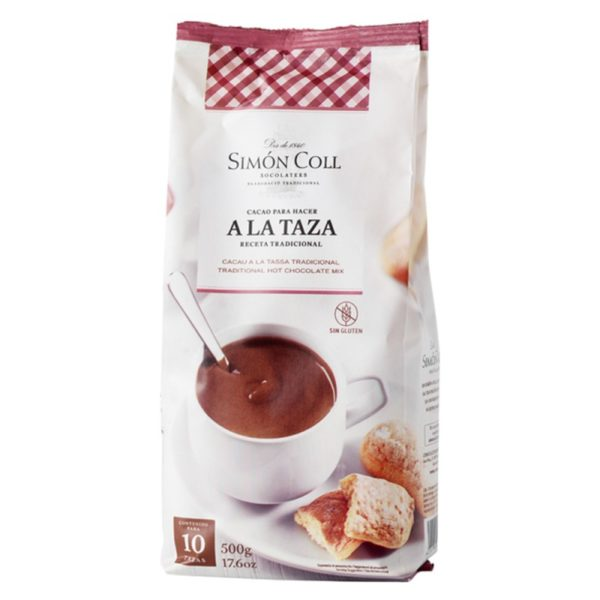 """Chocolate a la Taza 18% Cacao '10 tazas' 500gr. """"Simón Coll""""."""